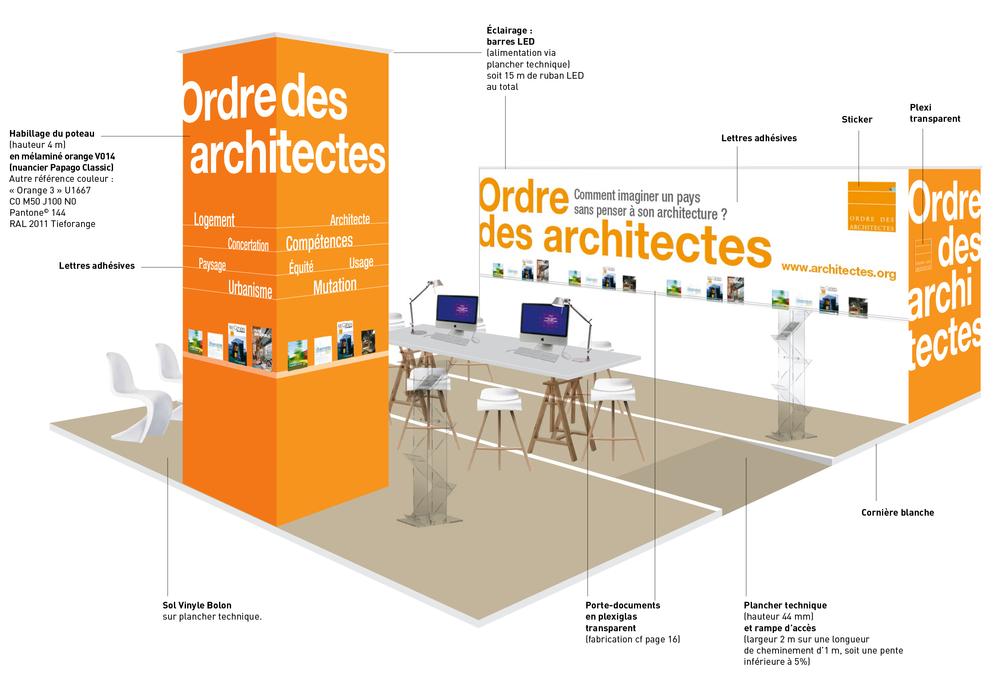 Conseil national de l'Ordre des architectes - SMCL 2012 • 2013 • 2014 • 2015 - stand - LUCIOLE