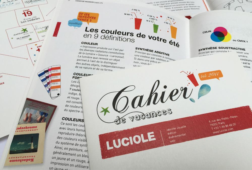 Cahier de Vacances - LUCIOLE
