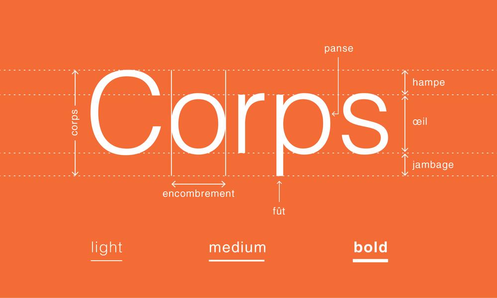 Le corps typographique - blog LUCIOLE