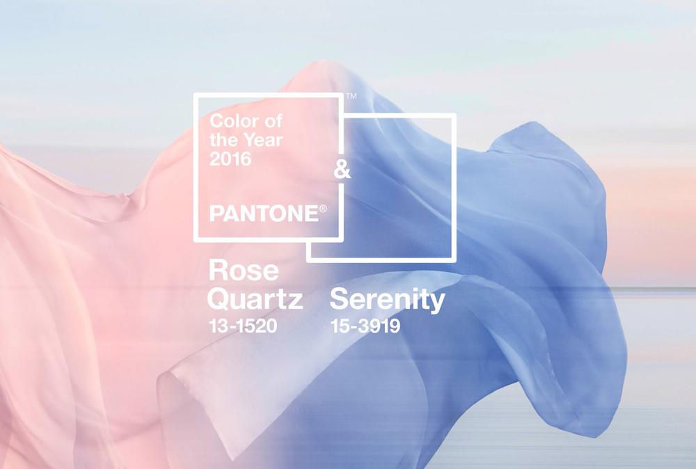 Pantone - Rose Quartz - Bleu Serenity - blog LUCIOLE