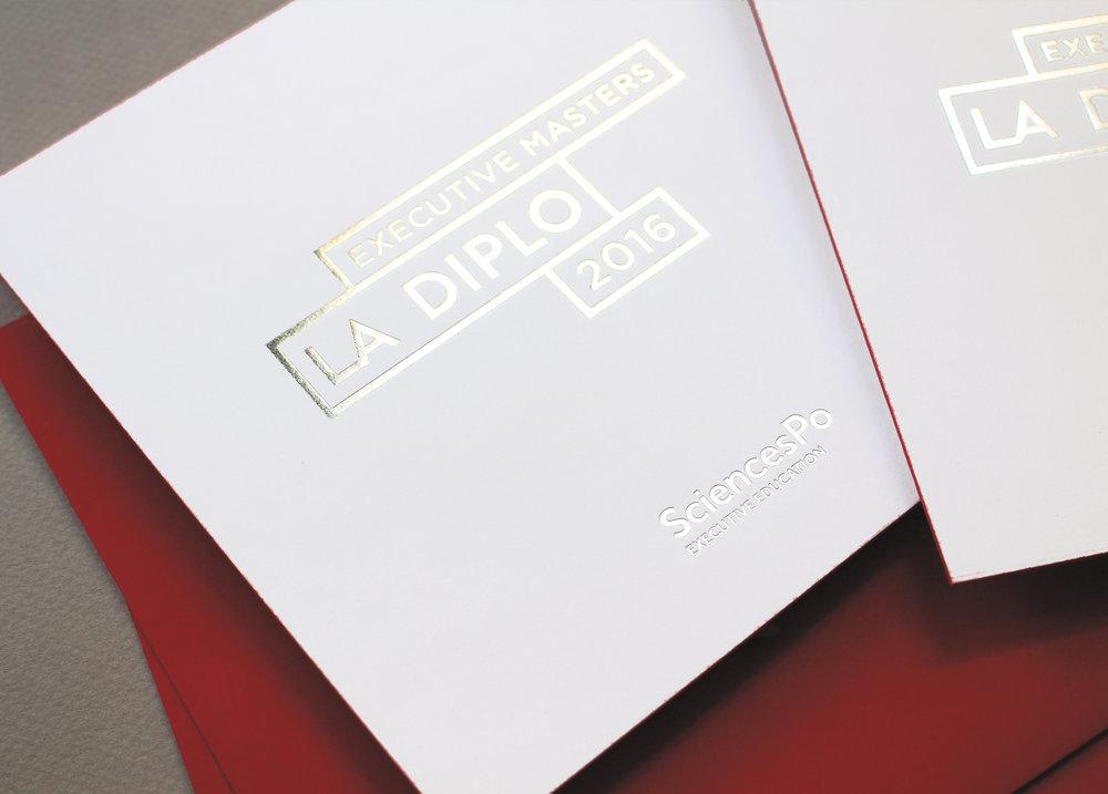 Sciences Po Executive Education - La Diplo 2016 - Identité visuelle - cartons d'invitation - LUCIOLE