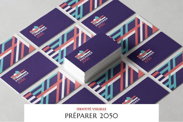 Préparer 2050 - CSTB & EDF - Identité visuelle - Site vitrine