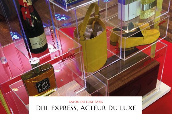 DHL Express - stand - Salon du Luxe - Luciole
