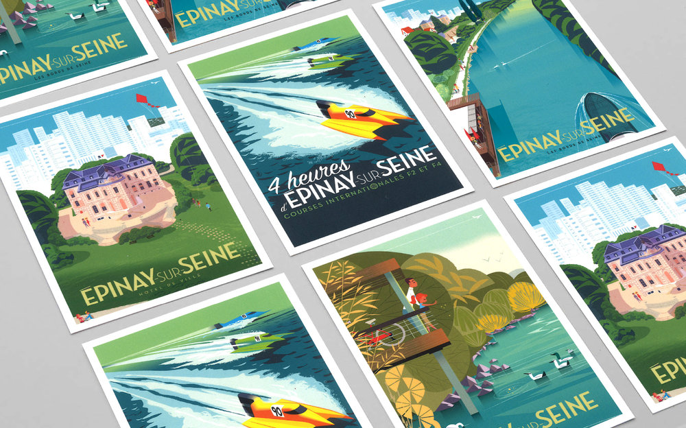 Epinay-sur-Seine - Illustrations estivales - blog LUCIOLE